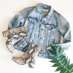 Outfit Inpso :: Denim Jacket :: Studded Jean Jacket