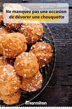 Chouquettes - The Best Protein Recipes Choux Pastry, Party Finger Foods, Cheat Meal, Fermented Foods, Protein Foods, Let Them Eat Cake, No Cook Meals, Coco, Cooking Recipes