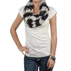 Hailey Jeans Co Womens Striped Print Figure 8 Scarf Hailey Jeans Co.. $6.99