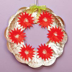 We had a great time sitting around the table on Christmas eve making these wreaths.