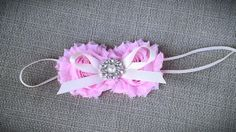 Shabby Flower Headband newborn prop baby by OhhSoChicBowtique, $11.25