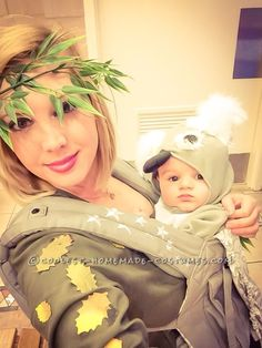 Cute Mom and Baby Costume: Koala in Eucalyptus Tree!...