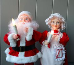 Animated Santa and Mrs Claus | Santa and Mrs. Claus Animated Figurine Christmas Decorations