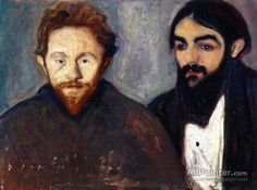 Edvard Munch,Paul Herrmann And Paul Contard oil painting reproductions for sale