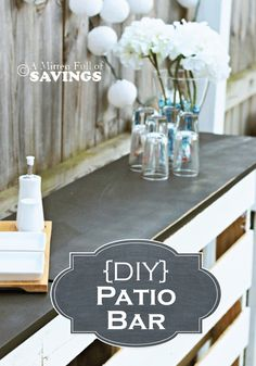 Learn how to create an outdoor Patio Bar out of wood pallets for summer entertainment!