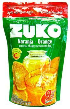 Buy Zuko Orange (Naranja) Flavor Drink Mix at MexGrocer.com an online Mexican supermarket for Aguas Frescas. Mexican Food Recipes, Snack Recipes, Snacks, Fresco, Horchata, Zuko, Tamarind, Mixed Drinks, Vitamin C