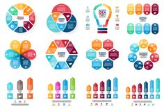 Set of 12 infographic templates by theseamuss on Creative Market