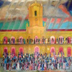 """""""25 de Mayo de 1810 (4) """", acrílico sobre tela, 95 x 97 cm. , 2010 . By Diego Manuel"""