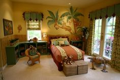 Beautiful Jungle Inspired Bedroom For Kids