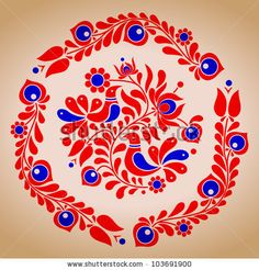 Hungarian folk vector motives by tupia, via ShutterStock