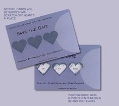 Scratch Off Hearts Save the Date Magnet - $1.22 each when you purchase 100.