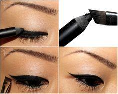 cat eyes, pencil eyelin, makeup, thought, beauti
