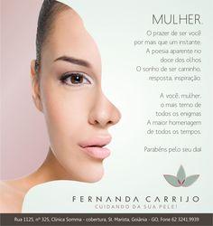 Email MKT comemorativo do dia da mulher, atenção e carinho com as pacientes. cliente: Fernanda Carrijo designer: Priscila Áquila