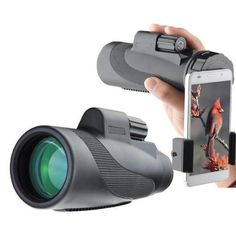 Gosky Titan High Power Prism Monocular and Quick Smartphone Adapter - Waterproof Fog- proof Shockproof Scope Prism FMC for Bird Watching Hunting Camping Travelling Wildlife Secenery. Gosky Titan High Power Prism Monocular and Quick Smartphone Adapter. Camera Shutter, Camera Lens, Fisheye Lens, Samsung Galaxy S6, Galaxy S8, Compact, Polarizing Filter, Accessoires Iphone, Birdwatching