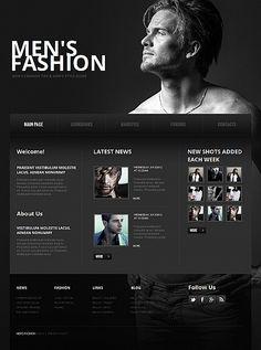 Men's Fashion Moto CMS HTML Templates by Elza