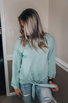 Day By Day Top Sage womens clothing boutique free shipping