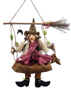 Olivia  Swinging Kitchen Witch Doll - SOLD OUT
