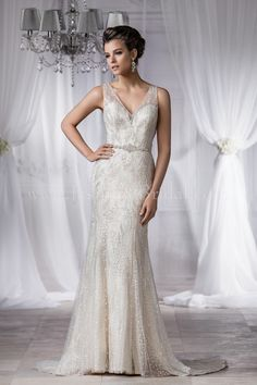 Jasmine Bridal Couture Style T182058 in Ivory/Gold