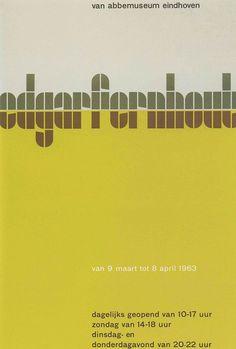 Wim-Crouwel-affiche-Edgar-Fernhout-1963