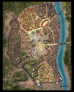 I love that there's a very obvious arena on this city map