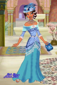 Salina Deep Kentucky Derby Contest I by DeathsKiss ~ Princess Jasmine dress up game Punk Disney, Disney Art, Princess Jasmine Dress, Doll Divine, Dress Up Dolls, Historical Costume, Cartoon Styles, Kentucky Derby, Fashion Art