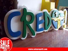 Lettering per giornata eucaristica.  www.saleprogetti.com