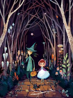Lorena Alvarez Gomez - Wizard of Oz illustrations