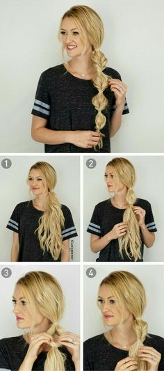 62 Easy Hairstyles Step by Step DIY Check out our collection of easy hairstyles step by step diy. You will get hairstyles step by step tutorials, easy hairstyles quick lazy girl hair hacks, easy hairstyles step by step quick & easy hairstyles for work lon Easy Work Hairstyles, Braided Hairstyles Tutorials, Trendy Hairstyles, Braid Hairstyles, Wedding Hairstyles, Braid Tutorials, Hairstyles 2016, Hairstyles For Working Out, Easy Braided Hairstyles For Long