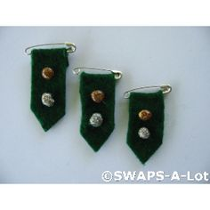 Girl Scout Swaps - insignia tab. Felt and glitter glue.