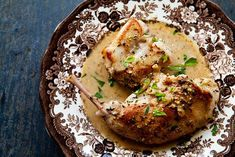 Rabbit in Mustard Sauce ~ Classic French rabbit in Dijon mustard sauce, or Lapin à la moutarde. ~ SimplyRecipes.com