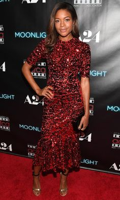 Naomie Harris in Dolce & Gabbana attends the 'Moonlight' Atlanta premiere. #bestdressed