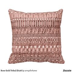 Rose Gold Tribal ID126 Throw Pillow
