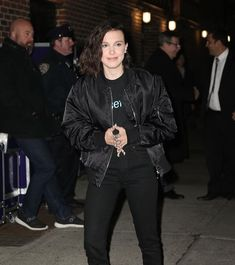 Brown Brown, Millie Bobby Brown, Bobbi Brown, Style Icons, Most Beautiful, Bomber Jacket, Queen, Celebrities, People