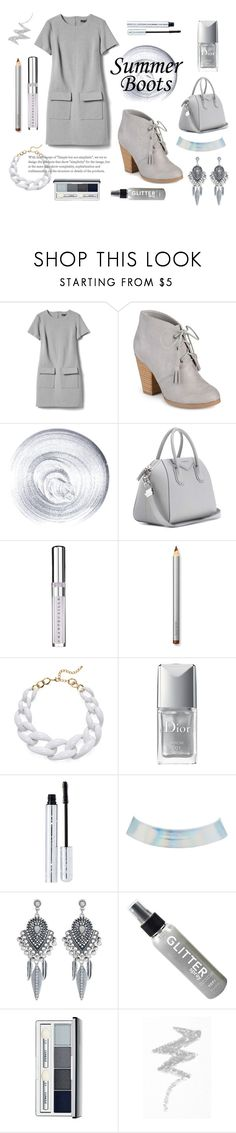 """""""Boots."""" by dontdanceex ❤ liked on Polyvore featuring Banana Republic, Journee Collection, Guerlain, Givenchy, Chantecaille, Laura Mercier, Kenneth Jay Lane, Christian Dior, 100% Pure and Charlotte Russe"""
