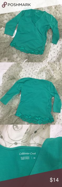 Coldwater Creek Stretchy Surplice Top In new condition😊. Touching near hem on left for glam effect❤️ Coldwater Creek Tops