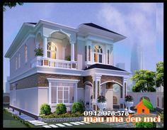 2 Storey House Design, Bungalow House Design, Front Elevation Designs, House Elevation, Double Story House, Victorian House Plans, Duplex House Plans, Kerala House Design, Fantasy House