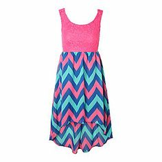 Little girls hi-low dress