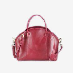 Cerniera Handbag in Dark Pink Custom Bags, Manila, Leather Bag, Monogram, Dark, Accessories, Monograms, Jewelry Accessories