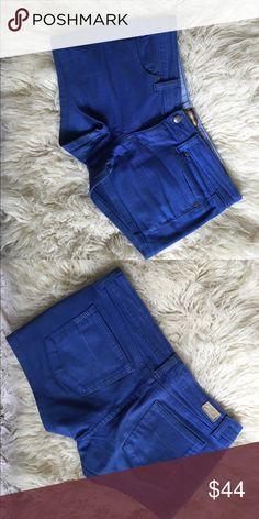 Paige Denim Blue Jean Shorts Royal blue color jean shorts. Paige denim. Size 28. Paige Jeans Shorts Jean Shorts