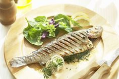 Trout Is high in vitamin D. - Trout is another good source of vitamin D, and since it's a white fish, it has a milder flavor than oilier fish like salmon and tuna. Three ounces of rainbow trout has about 650 International Units of vitamin D. Trout is also an excellent source of protein, B-complex vitamins, and minerals.