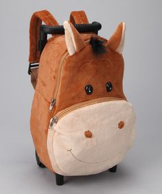 Take a look at this Harriet the Horse Plush Rolling Bag by Sassafras on #zulily today!