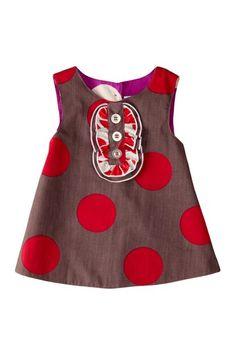 Right Bank Babies-Reversible Tux Dress