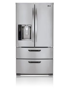 LG LMX25986ST Refrigerators  Large Capacity 4 Door French Door Refrigerator with Ice & Water Dispenser