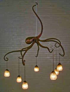Amazing octopus chandelier