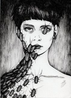 Junji Ito Serious House on Serious Earth Mehr Art And Illustration, Illustrations, Kunst Inspo, Art Inspo, Arte Horror, Horror Art, Manga Gore, Art Et Design, Junji Ito