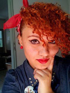 #CurlyGirl, #CurlyHair, #naturallycurly #headhair #pinupgirl, #pinup #pinupgirl