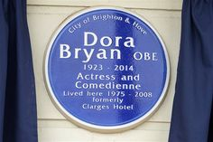 Blue Plaque for Dora Bryan OBE
