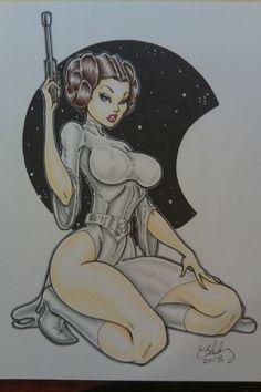 Princess Leia 5, in CameronBlakey's Original Pinup Artwork (Cameron Blakey Art) Comic Art Gallery Room - 1036733