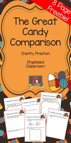 Perfect for after Halloween Lessons, this freebie will be good to utilize that real world experience for learning and in your lesson plans!  The Great Candy Comparison {Freebie} - The Organized Classroom Blog
