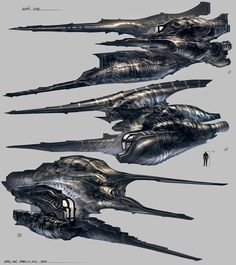 Feng Zhu Design: Alien Ships // Hi Friends, look what I just found on Alien Spaceship, Spaceship Design, Cyberpunk, Space Fantasy, Sci Fi Fantasy, Final Fantasy, Concept Ships, Concept Art, Alien Ship